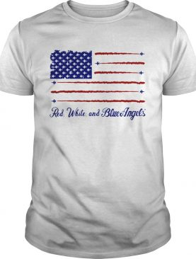 US Navy Red White Blue Angels shirt