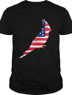 Usa Flag Cockatiel Independence Day Patriotic shirt