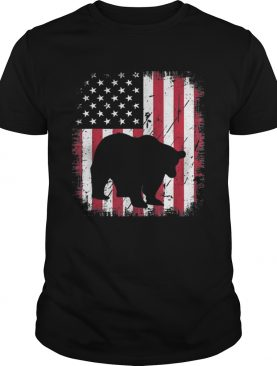 Vintage Panda Bear American Flag 4th Of July Patriotic Shirt