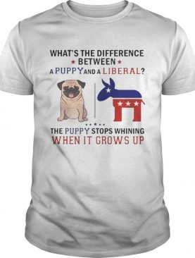 Whats The Difference Between A Puppy And A Liberal Funny Tshirt