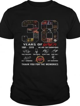 38 years of player 1981 2019 we are the champions thank you for the memories shirt