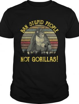 Band stupid people not gorillas retro shirt