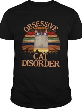 Cat obsessive cat disorder vintage shirt