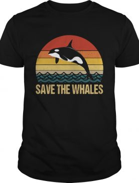 Dolphin save the Whales sunset shirt