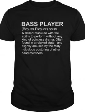 Guitar bass player definition shirt