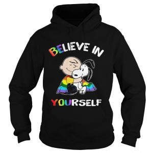 Lgbt Snoopy and Charlie Brown believe in yourself hoodie