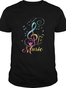 Pretty Funky Colorful Music Sol Key Treble Clef Musical shirt