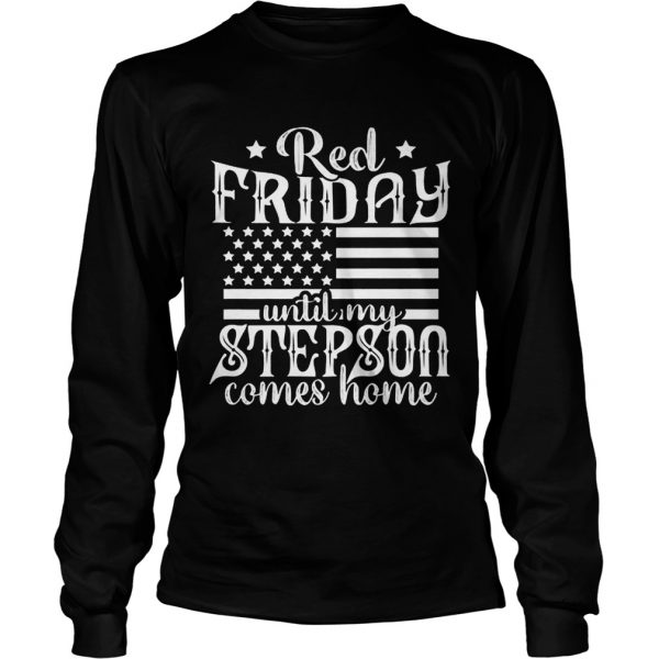 Red Friday Support Military Family Son longsleeve tee