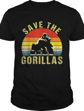 Save the silverback Gorilla animal rescue shirt