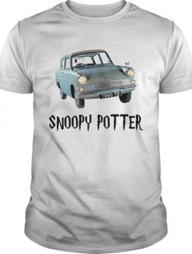 Snoopy driving Harry Potter shirt