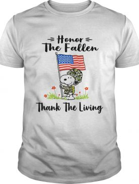 Snoopy honor the fallen thank the living shirt