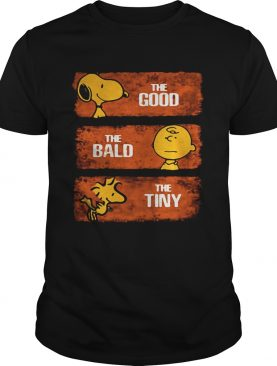 Snoopy the good Charlie Brown the bald Woodstock the tiny shirt