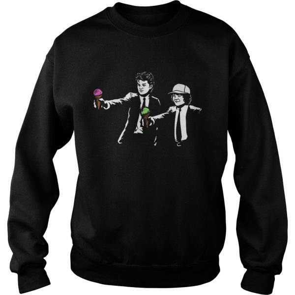 Stranger Things 3 Scoops Troops Fiction sweatshirt