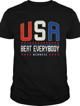 USA Beat Everybody American Flag Color TShirt