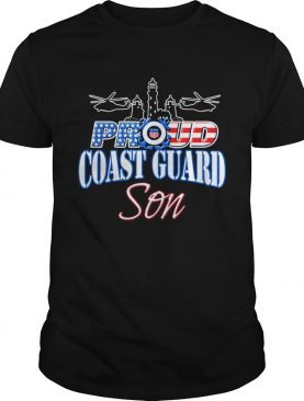 USA Proud Coast Guard Son USA Flag Military shirt