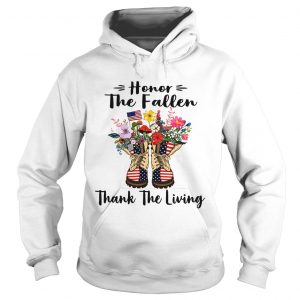 Veteran boots flower honor the fallen thank the living 4th of July independence day hoodie
