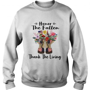 Veteran boots flower honor the fallen thank the living 4th of July independence day sweatshirt
