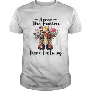 Veteran boots flower honor the fallen thank the living 4th of July independence day unisex