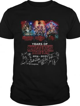 Years of Stranger Things 2016 2019 signature shirt