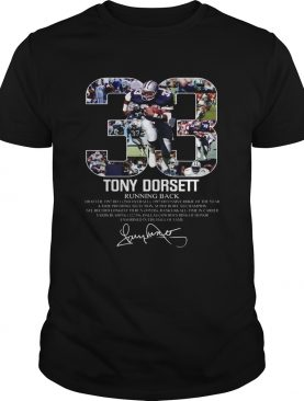 33 Tony Dorsett Dallas Cowboys Running back shirt