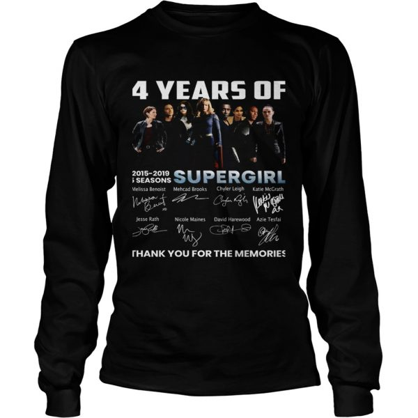 4 years of Supergirl 2019 thank you longsleeve tee