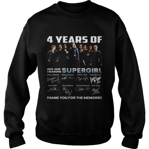 4 years of Supergirl 2019 thank you sweatshirt