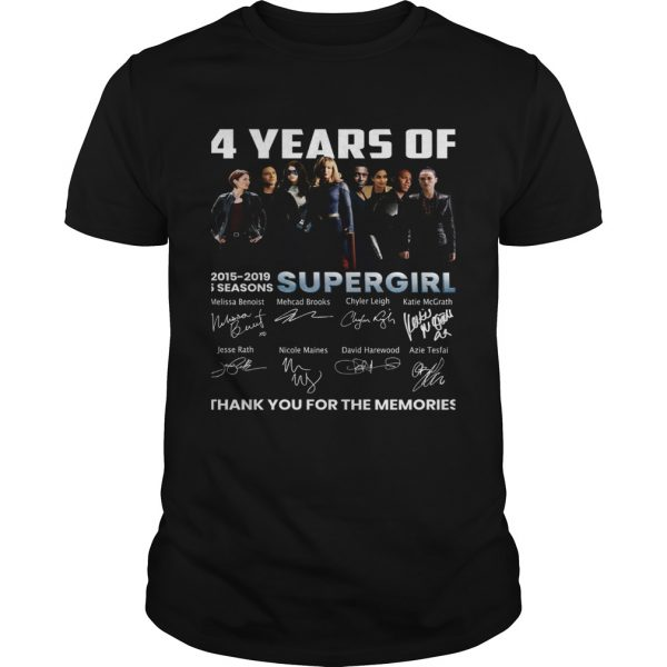 4 years of Supergirl 2019 thank you unisex