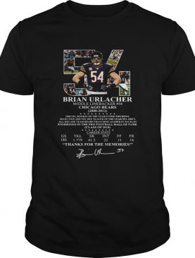 54 Brian Urlacher middle linebacker Chicago Bears shirt
