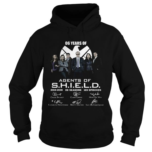 6 years of Agents Of SHIELD 2013 2019 signature hoodie