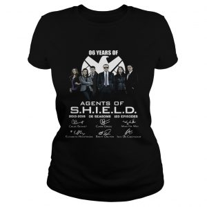 6 years of Agents Of SHIELD 2013 2019 signature ladies tee