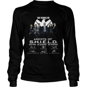 6 years of Agents Of SHIELD 2013 2019 signature longsleeve tee