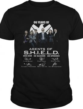 6 years of Agents Of SHIELD 2013 2019 signature shirt