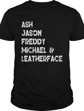 80s Horror Legends Ash Jason Freddy Michael Leatherface Tshirt