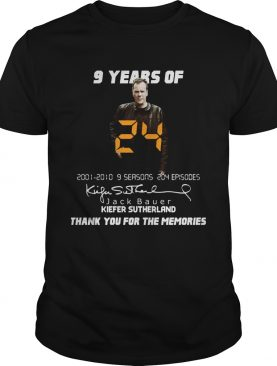 9 years of Jack Bauer Kiefer sutherland thank you for the memories shirt