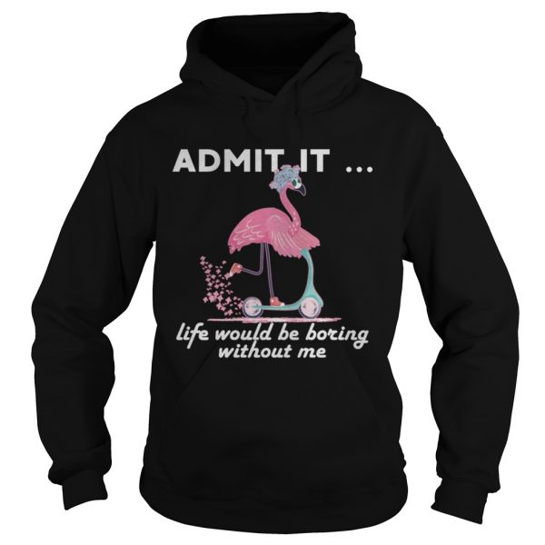 Admit It Life Would Be Boring Without Me Flamingo hoodie