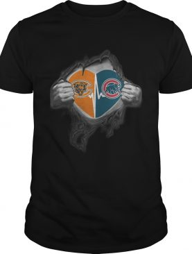 Chicago Bears inside my heart Chicago Cubs shirt