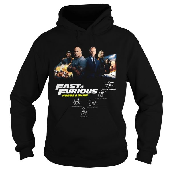 Fast and Furious Hobbs and shaw signature hoodie