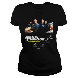 Fast and Furious Hobbs and shaw signature ladeis tee