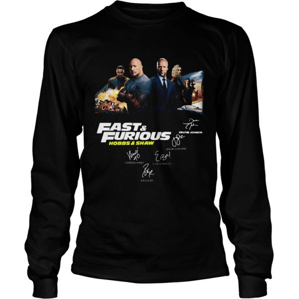 Fast and Furious Hobbs and shaw signature longsleeve tee