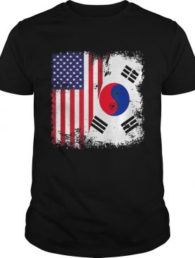 Half South Korean And American Flag shirt
