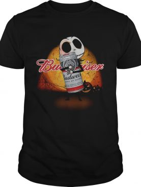 Jack Skellington hug Budweiser Halloween shirt