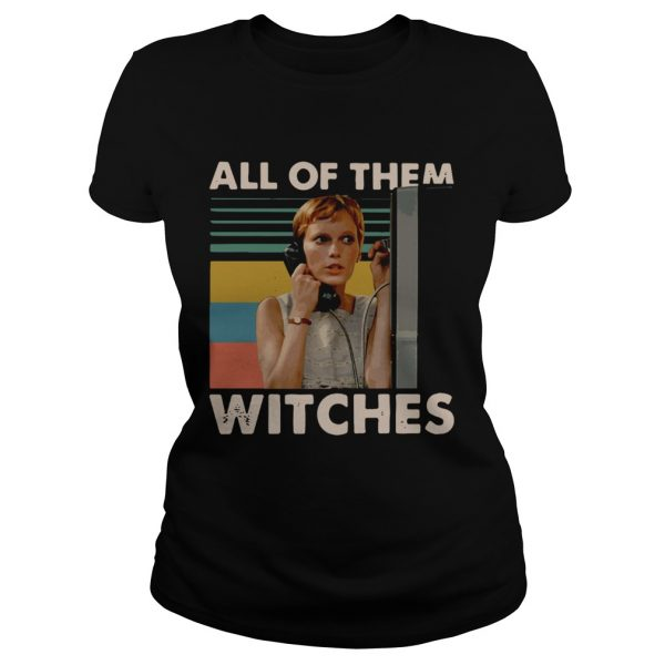 Mia Farrow in Rosemarys Baby all of them witches vintage ladies tee