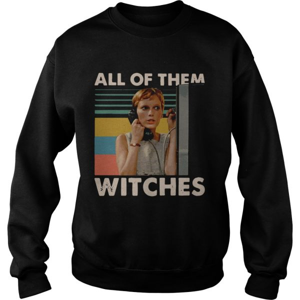 Mia Farrow in Rosemarys Baby all of them witches vintage sweatshirt