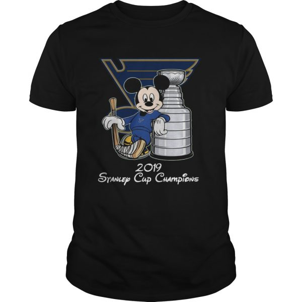 Mickey 2019 Stanley Cup Champions unisex