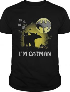 Na na na na Im catman black Halloween moon shirt