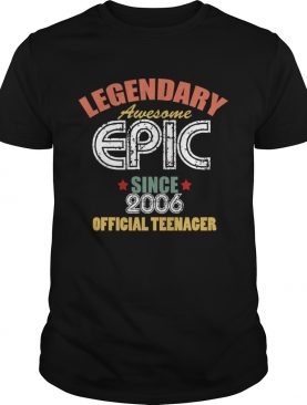 Official Teenager 13th Birthday Vintage 13 Years Old Gift Shirt