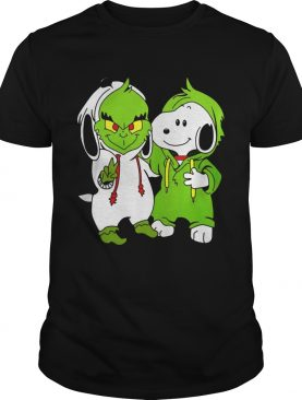 Snoopy And Grinch Fushion Peanuts How The Grinch Stole Christmas Fans Shirts