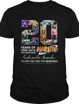 20 Years of Naruto 19992019 700 chapters thank you for the memories shirt