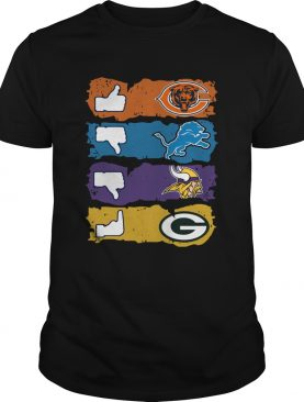 Chicago Bears Minnesota Vikings Detroit Lions and Green Bay Packers shirt