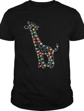 Giraffe Christmas Lights shirt